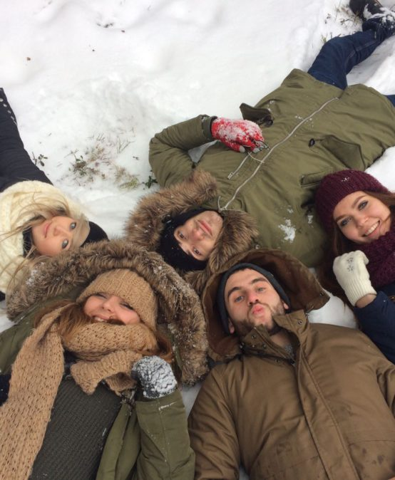 Sleigh ride for Erasmus+ students
