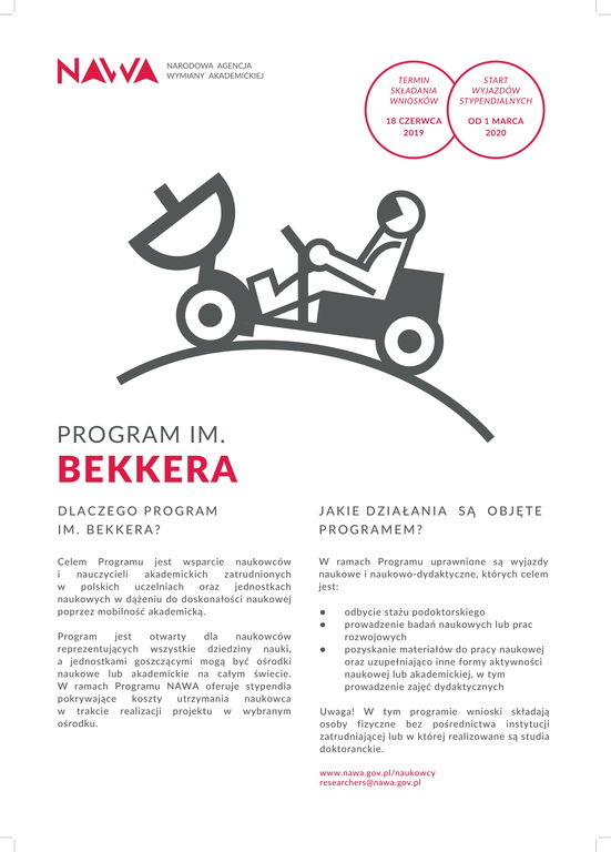 Trwa nabór wniosków w Programie im. Bekkera