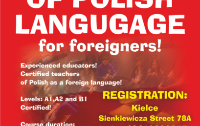 Free Courses of Polish Language for Foreigners in Kielce! NEW EDITION!