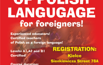 Free Courses of Polish Language for Foreigners in Kielce!