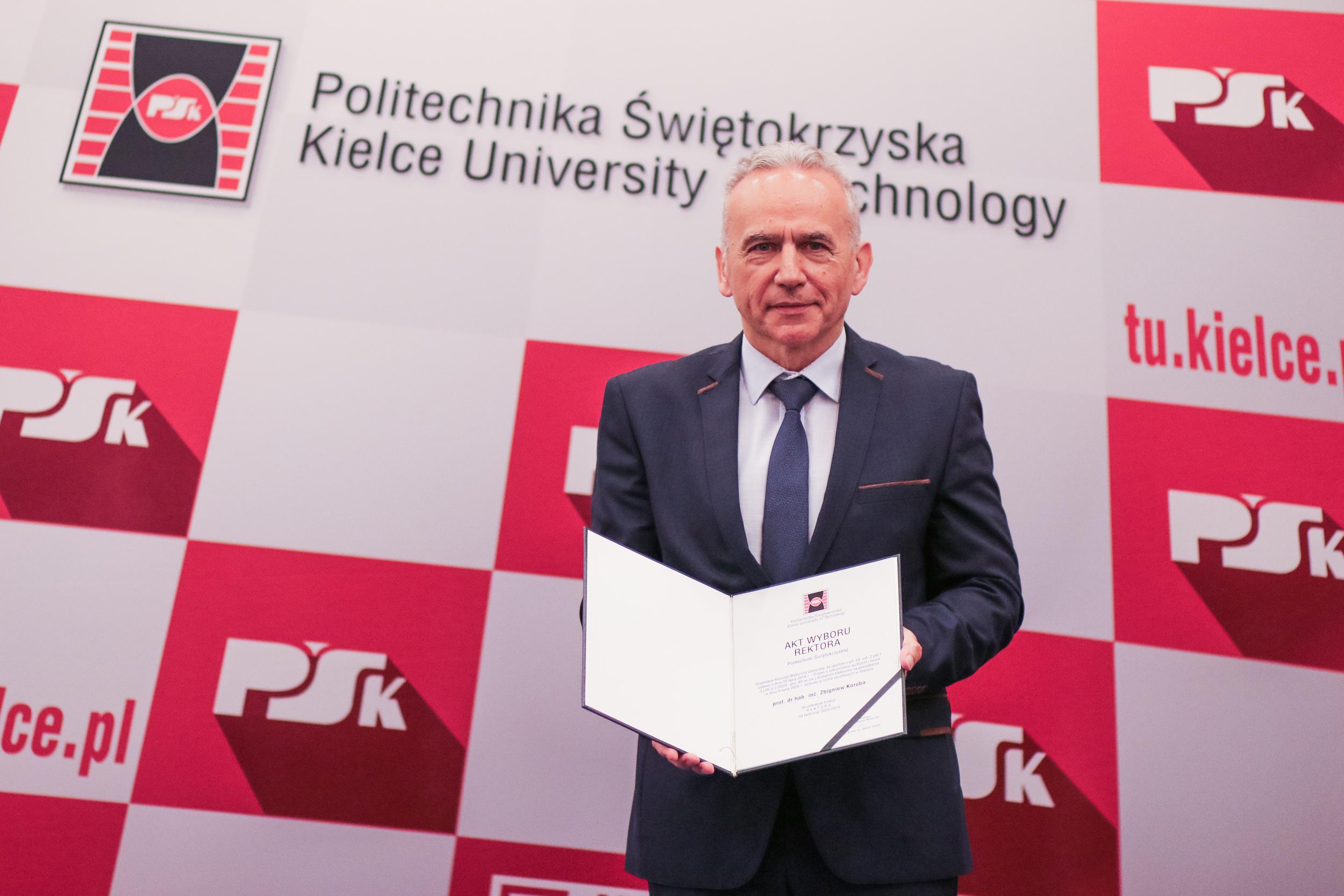 Professor Koruba becomes new Rector of the Kielce University of Technology