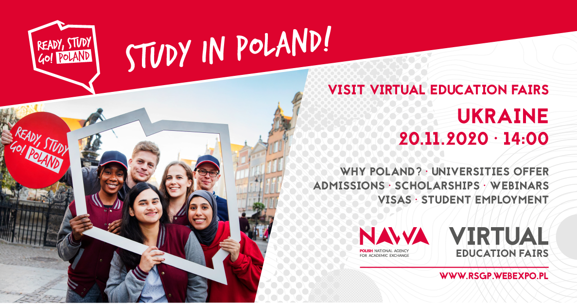 FREE Virtual education fairs STUDY IN POLAND Ukraine EDITION